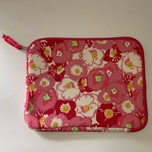 NWOT Lilly Pulitzer Neoprene iPad Tablet Case